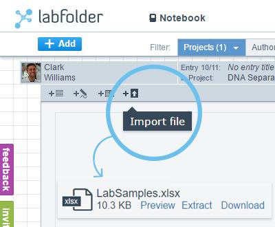labfolder ELN import document