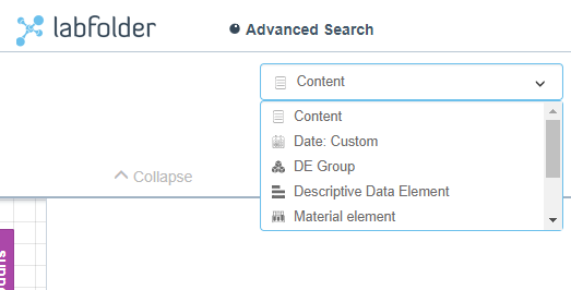 Advanced Search Categories