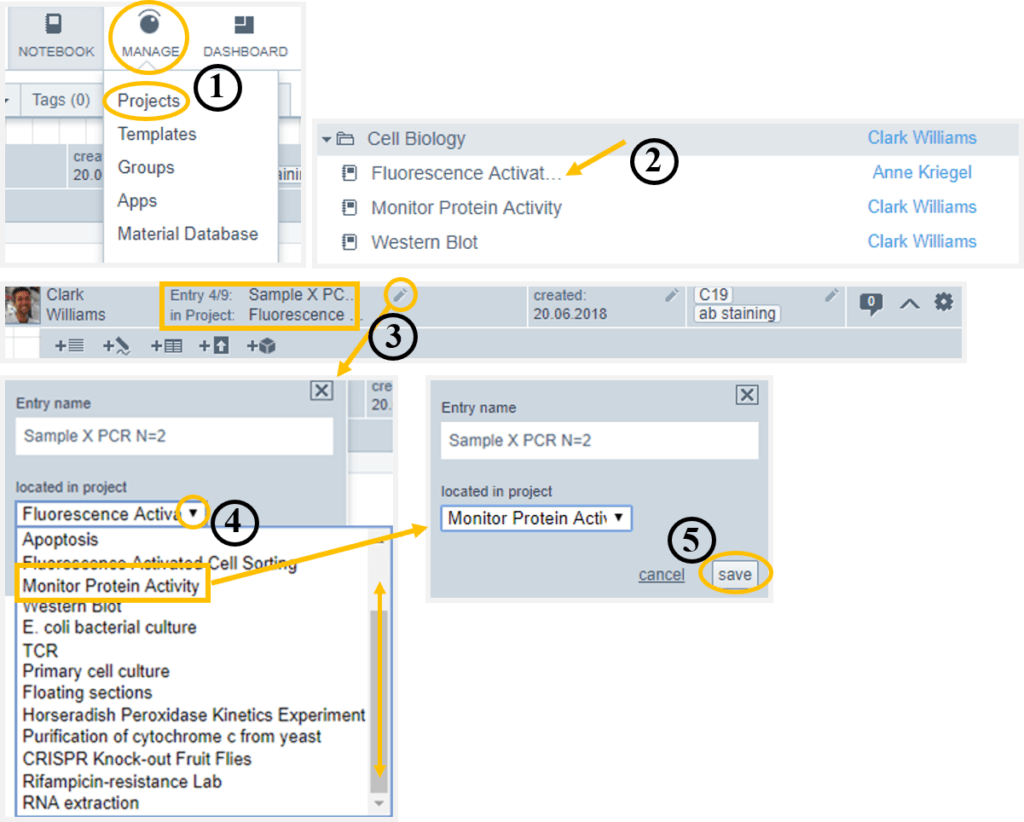 Helpdesk-Move entries between projects