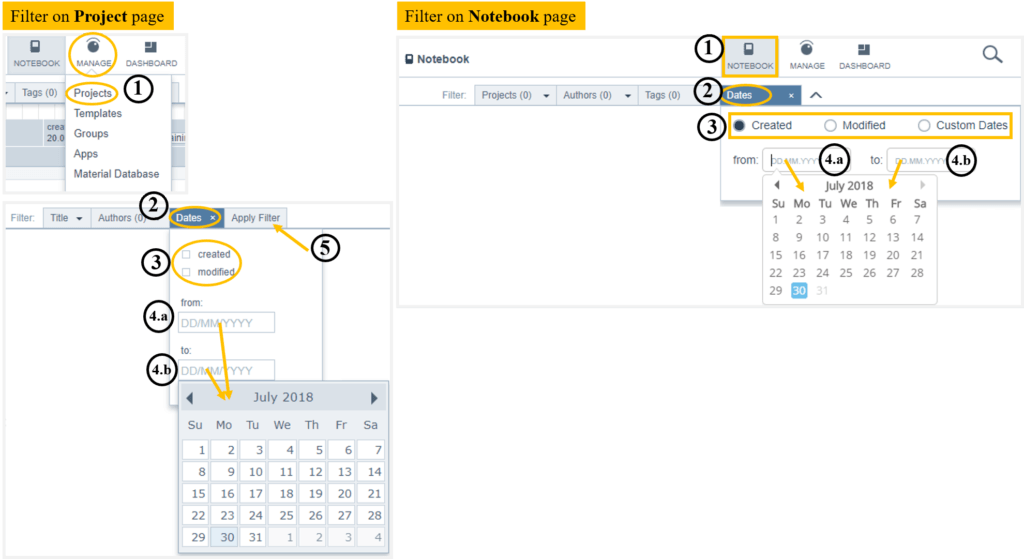 Helpdesk-Filter project_dates