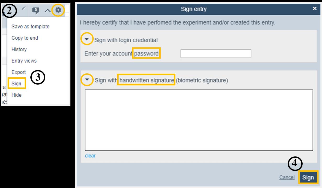 Helpdesk-Sign entry